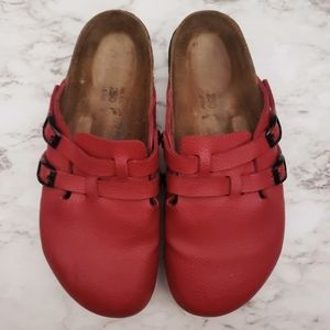 Birkenstock Shoes - Birkenstock Sandal Leather Red 8-8.5 *see details*